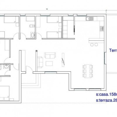 House 1 Plant of 158,00m2