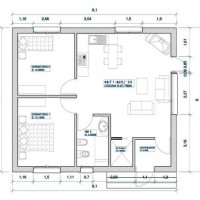 House 1 Plant of 80m2